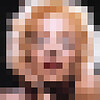 Pixelation portrait of Marilyn Monroe