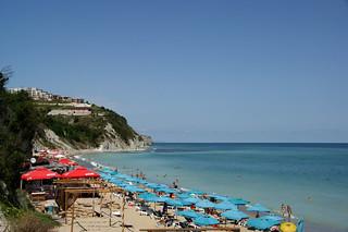 Obraz Плаж Бяла (Beach Byala) Piaszczysta plaża. landscape bulgaria romania blacksea byala mareaneagra mareaneagră