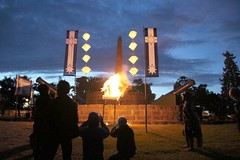 Watching the effigy burn in the Eureka dawn light - Eureka160-IMG_9274