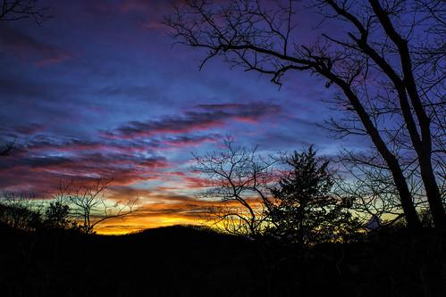 blue sunset sky silhouette landscape stlouis wildwood reservation rockwoods wildwoodmo nikond7100