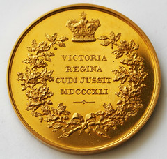 1841 Gold Victoria Presentation Medal reverse