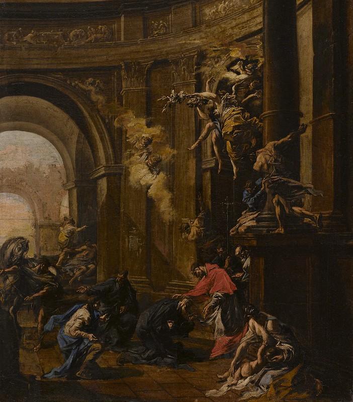 Alessandro Magnasco - Saint Carlo Borromeo Receiving the Oblates