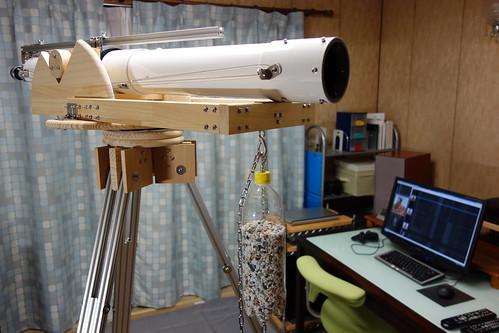 astronomical telescope_30 自作天体望遠鏡の写真。