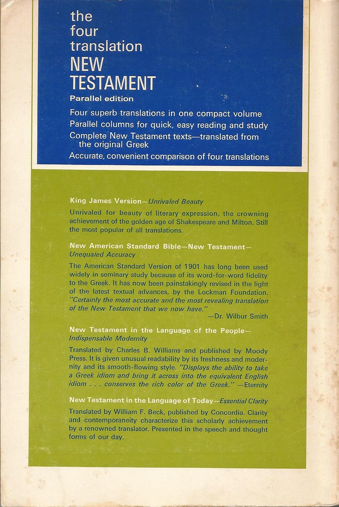 The Four Translation New Testament - Internet Bible Catalog