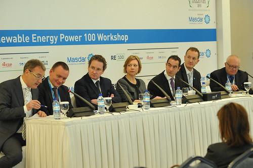 在阿布達比召開的RE100集團會議。(來源:The Climate Group)