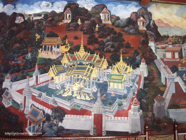 Королевский дворец, фрески