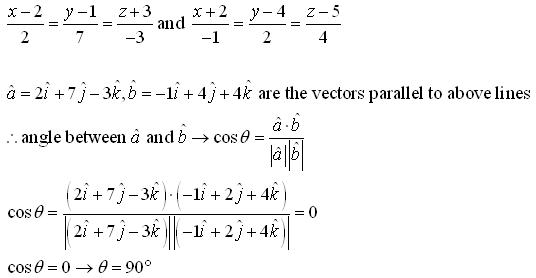 RD Sharma Class 12 Solutions Chapter 28 Straight Line in Space Ex 28.2 Q2-vi