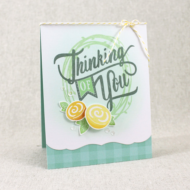 Thinking Of You Wreath Card