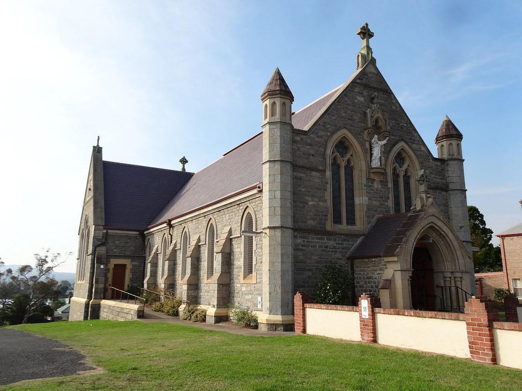 Moruya. Established 1850. Known as granite town. The large anbd impressive granite Catholic Church built in 1889.