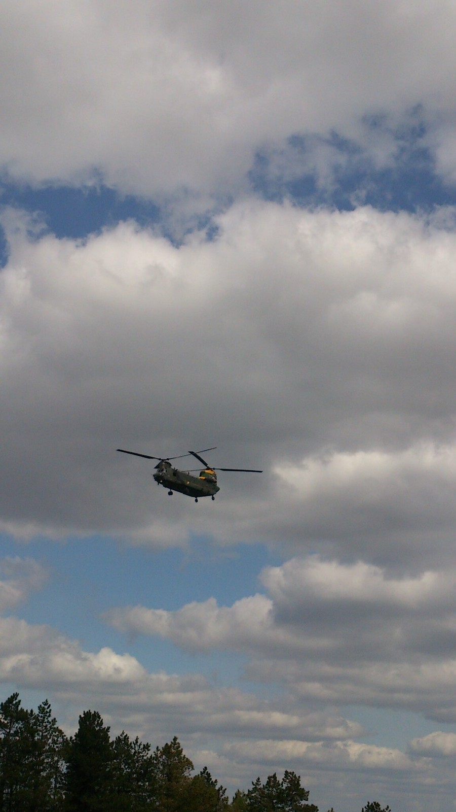 On Beacon Hill, Chopper approaching SWC Walk Rowlands Castle Circular - Extension