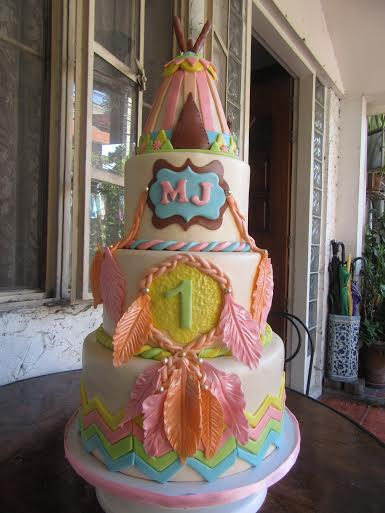 Bohemian Inspired Cake by Mel N. Luspo of Mel's Kitchen