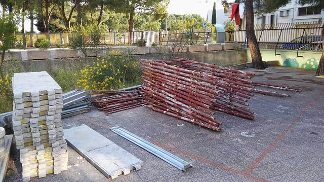 Scuola Aldo Moro rutigliano lavori senza protezioni (1)