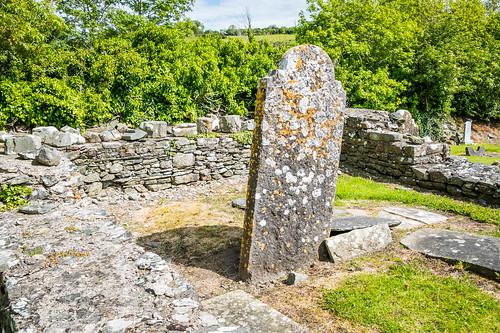 Lichen Covered Gravestone