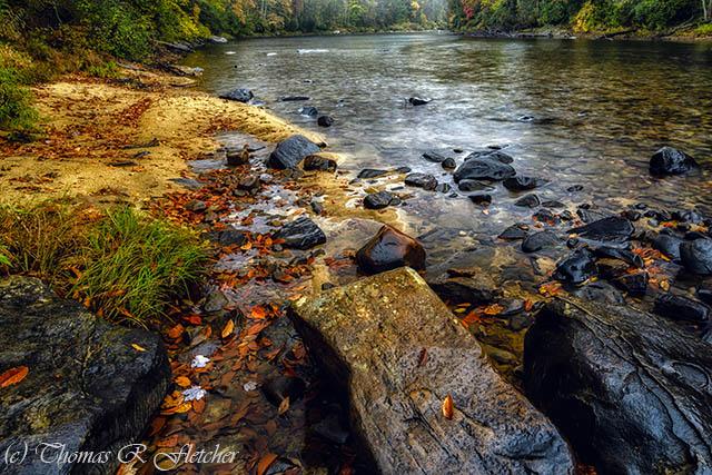 Rain along Gauley River