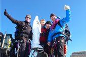 Gipfel Gran Paradiso, 4061 m, mit Gipfelmadonna. Foto: Archiv Härter.
