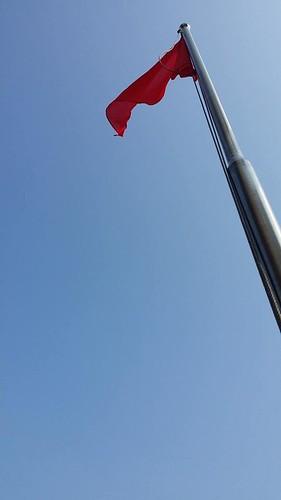 雲林縣校園將升起空汙旗,提醒師生戶外空氣品質情況。圖片來源:地球公民基金會