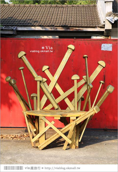 【台中霧峰景點】台中光復新村~可愛的造型椅林立、讓老眷村重新充滿新活力!25