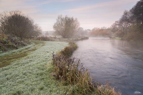 autumn mist fall sunrise river landscape dawn frost rivertest longstock canon5dmarkiii jrturnerphotography