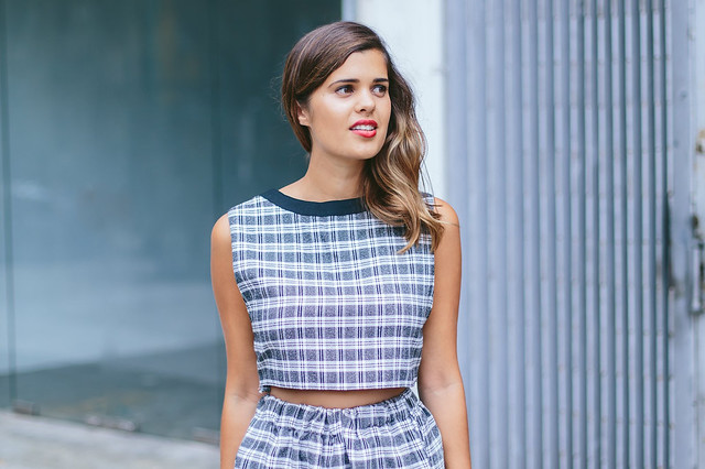 Turn a dress into a skirt and top