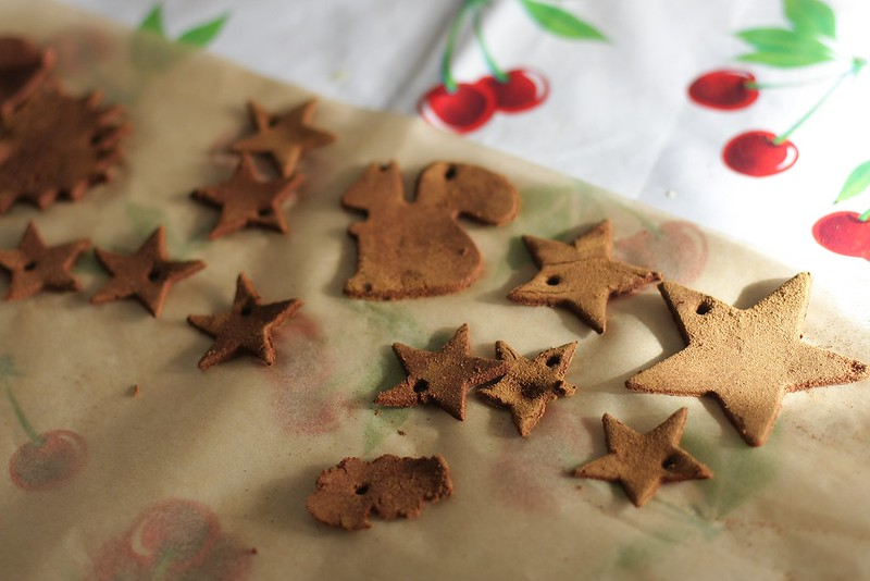 cinnamon applesauce ornaments (before baking)