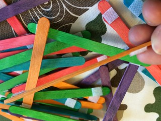Popsicle stick kid craft  project