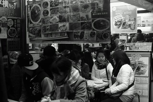 アメ横 Ameyoko street, Ueno Tokyo, 01 Jan 2015. 022