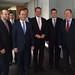 Achim Barchmann beim Treffen mit Albaniens Außenminister Ditmir Bushati