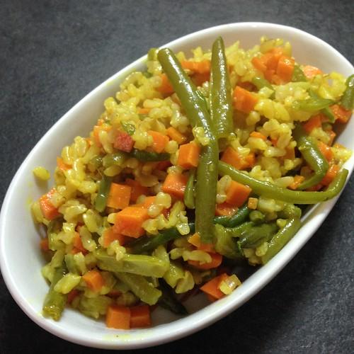 riso fagiolini vegan gluten free