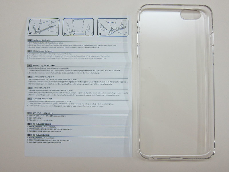 Power Support - Air Jacket Force (Clear) for iPhone 6 Plus - Box Contents Front