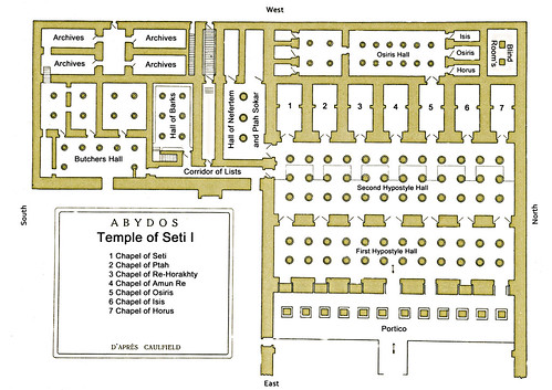 Abydos Plan Temple Seti I