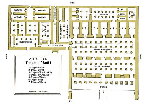 Abydos Plan Temple Seti I