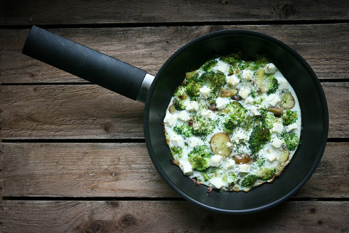 Broccoli, Potato, Feta and Dill Frittata