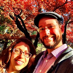 Gorgeous day for a walk under the fall foliage!