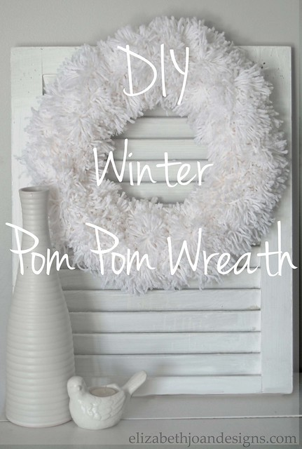 Winter DIY Pom Pom Wreath