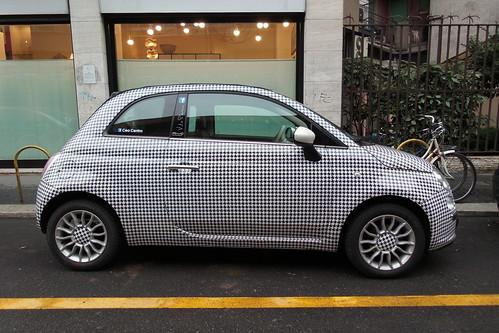 L'auto pied-de-poule, #texture grafica