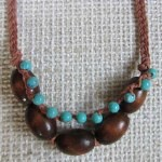 plaited wooden necklace
