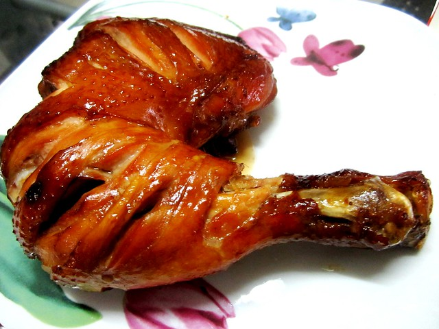 Roast chicken thigh