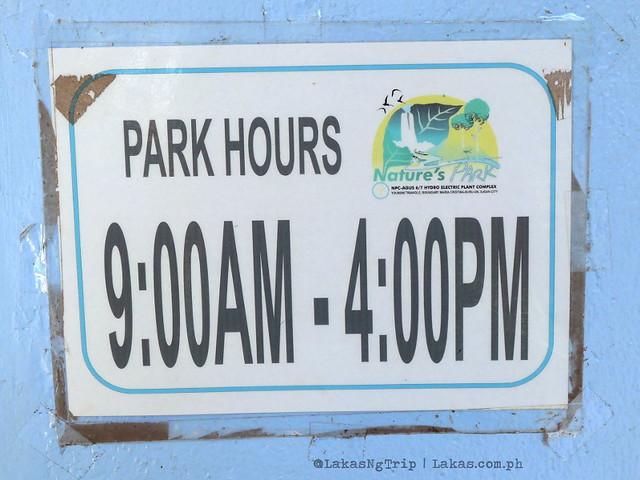 Park Hours. NPC Nature's Park in Iligan City, Philippines