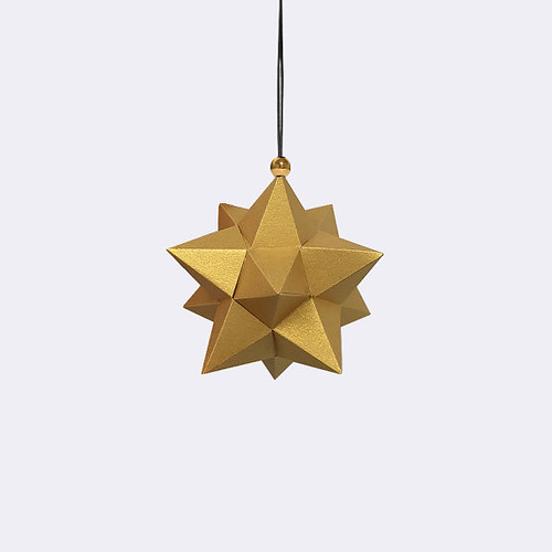 DIY Geometric Gold Ornament Kit from Chronus Rhea