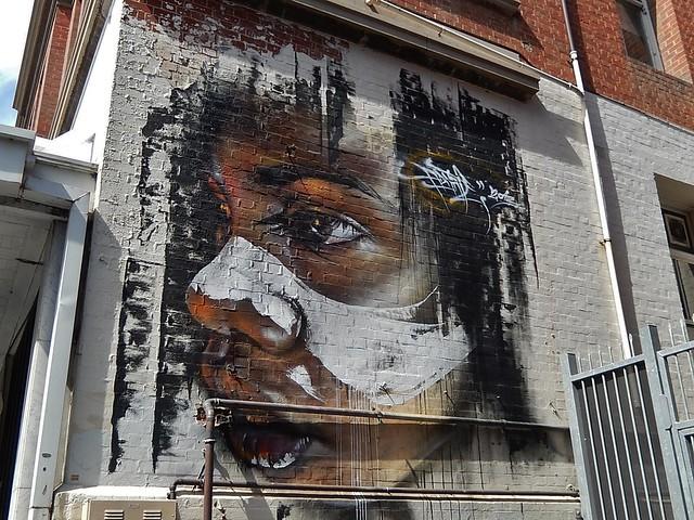 Painted Aboriginal Face