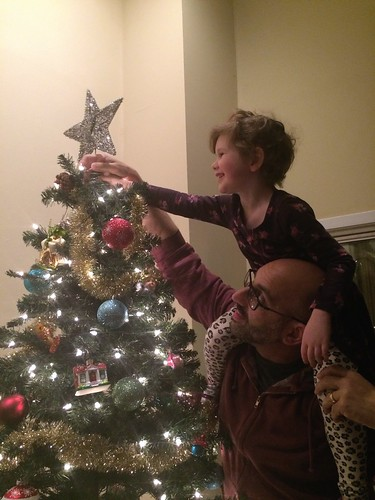 Me and the Kid Finishing the Tree by Geoff Livingston
