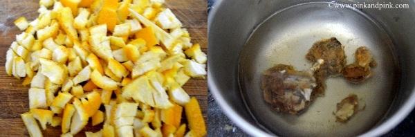Orange peel pickle step1