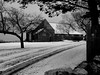 New England Winter farm house