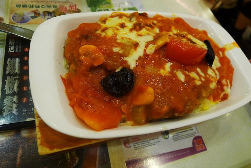 番茄西梅焗豬扒飯