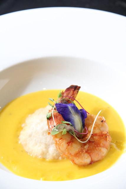 marinated_prawns_citrus_potato_ravioli_microsprouts_salad