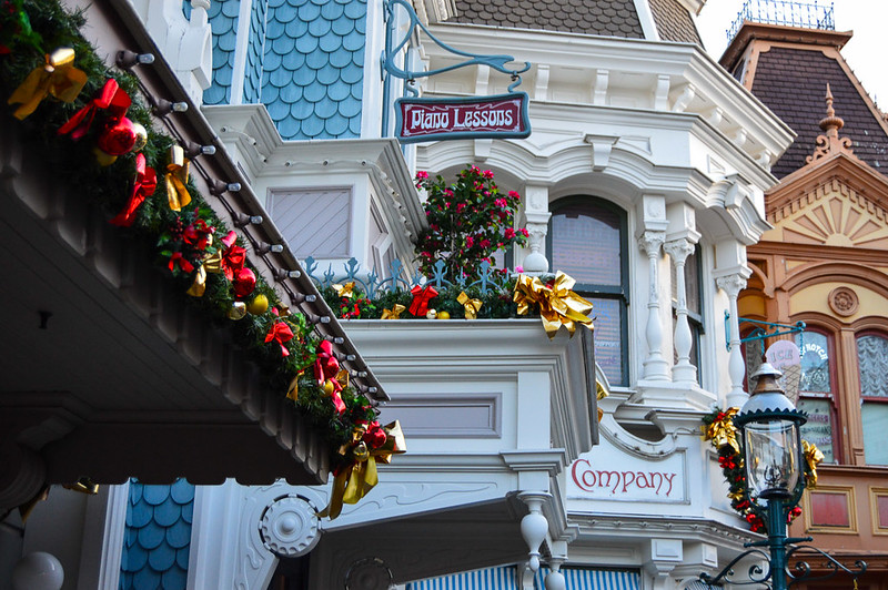Main Street Building Christmas Decorations