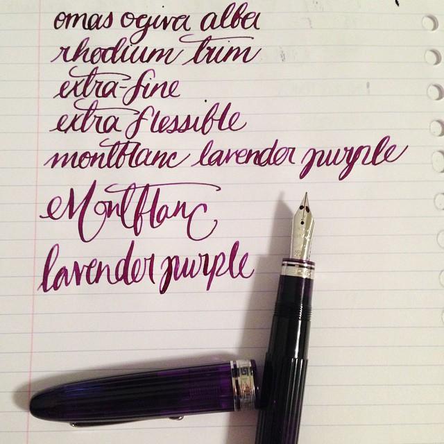 Omas Ogiva Alba EF Extra Flessible Montblanc Lavender Purple @luca_baglione @omas_official @montblanc #fpgeeks #fountainpen #fountainpens #pen #pens #penporn #penaddict #penaddicts #Montblanc #ink #inks #inked #inkaddict #omas #omaspen #italy #italianpe