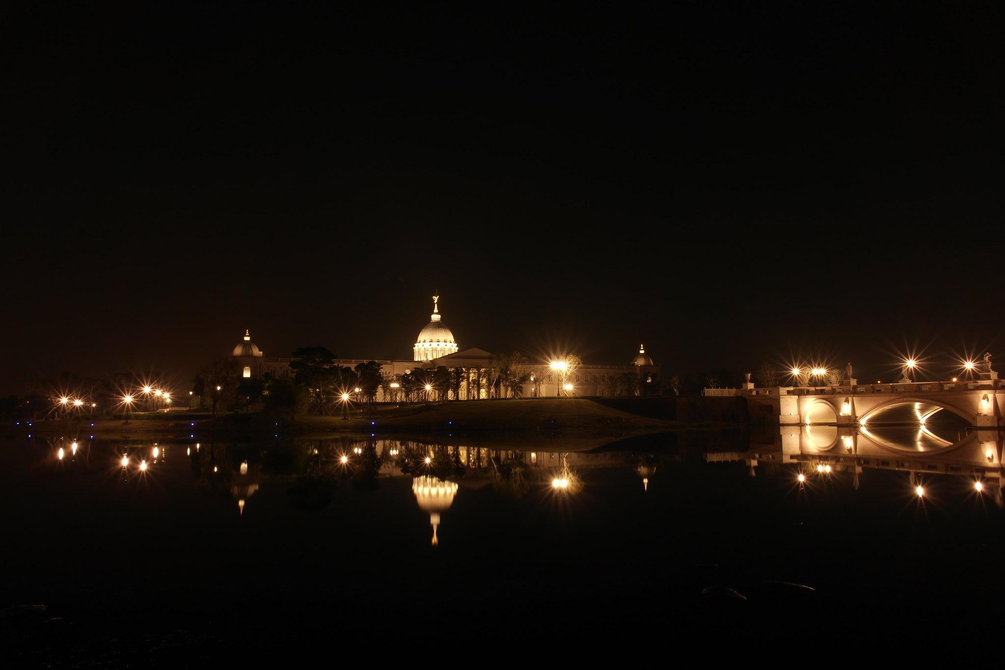 台南都會公園,夜拍奇美博物館