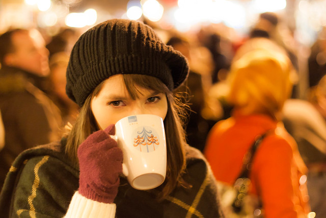 An Irish Girl at the Christmas Market from Flickr via Wylio