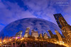 Cloud Gate, Chicago at Dusk [2062]